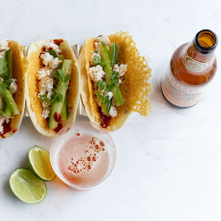 Crab and Crispy Cheese Tacos.