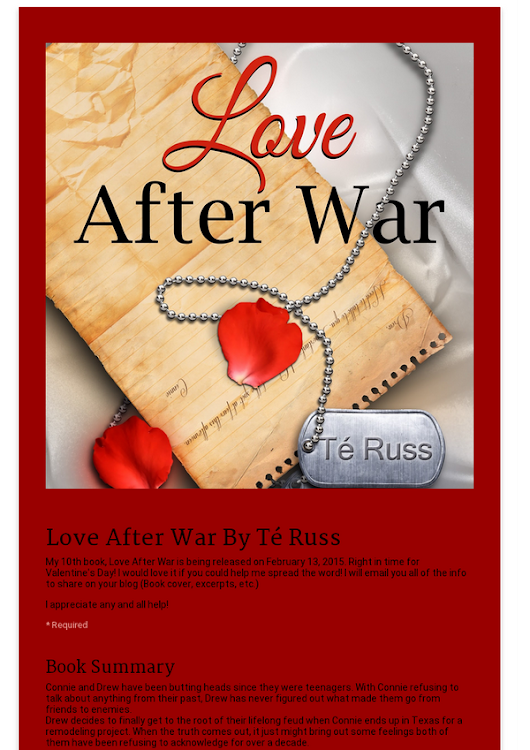 Love After War By Té Russ