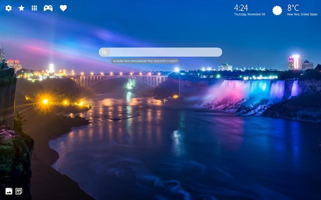 Niagara Falls Wallpaper Chrome Theme