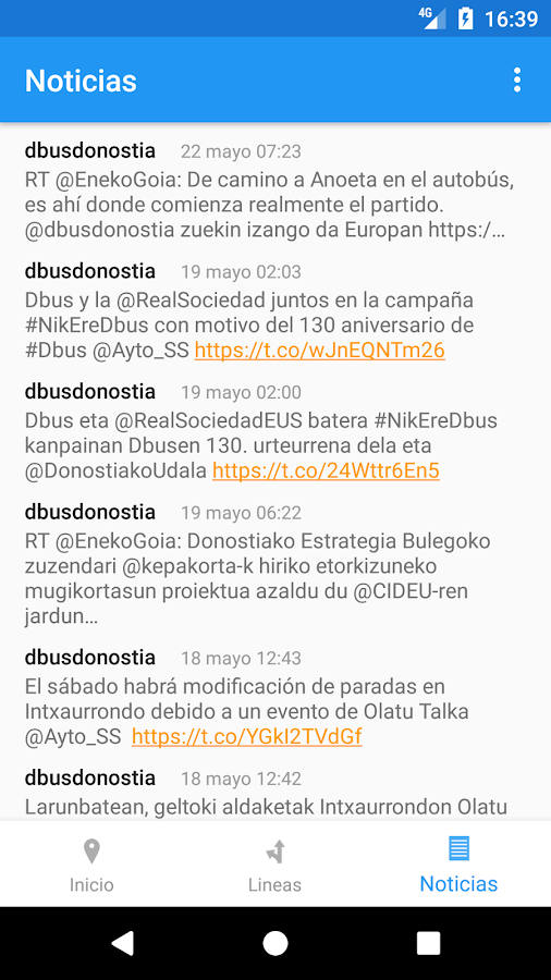 donosti Bus- screenshot