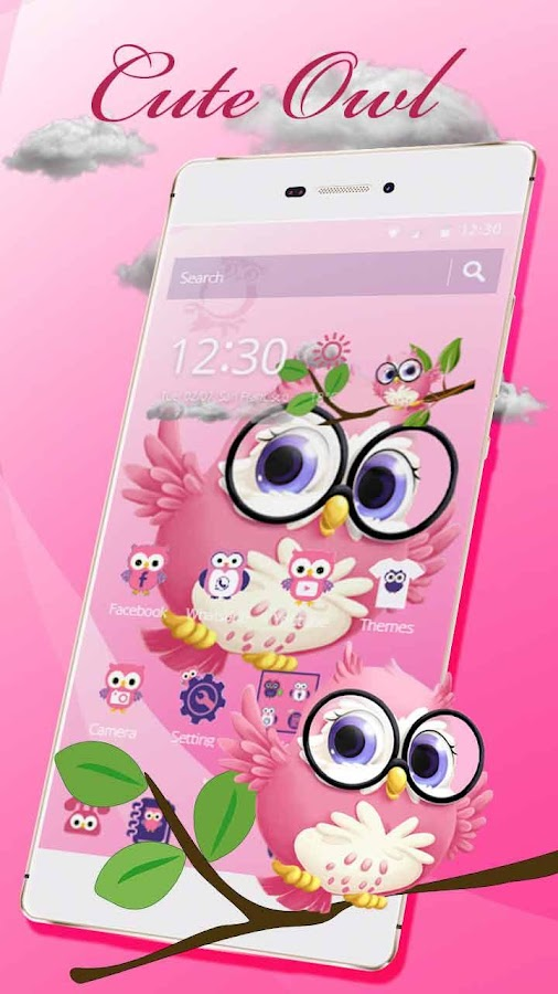 Pink anime cute owl princess android apps on google play pink anime cute owl princess screenshot voltagebd Image collections