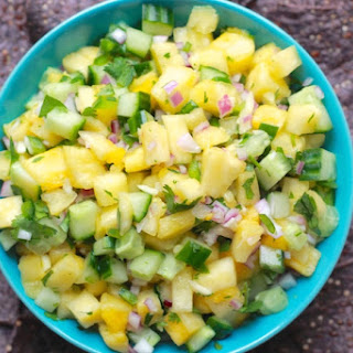 Pineapple Cucumber Salsa.