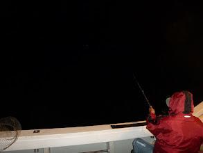 Photo: 只今、夜中2時。 まだ潮が動かん! 釣れん!困った。
