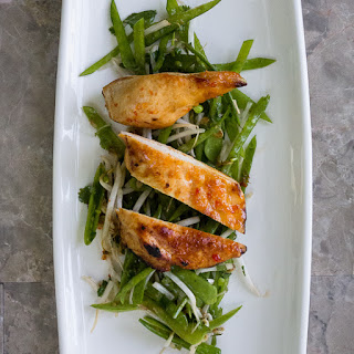 Chile Chicken with Snow Peas Salad.