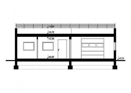 G353 - Budynek garażowo-gospodarczy - Przekrój
