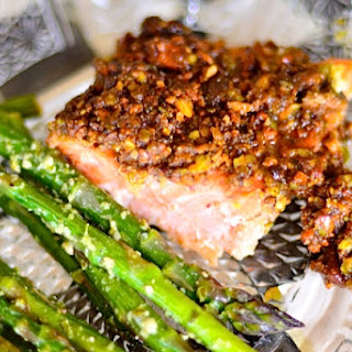 Pistachio Lime Baked Salmon