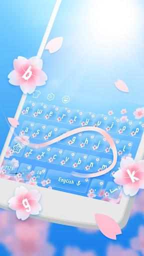 Spring Sakura Cheetah Keyboard 1.1.1 screenshots 3