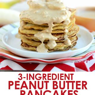 3-Ingredient Peanut Butter Pancakes Recipe