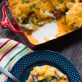 Grilled Sausage Twice Baked Potatoes