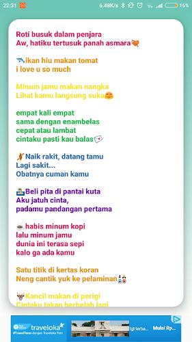Aflaai Pantun Gombal Bikin Baper Gokil Abis Apk Nuutste Weergawe App Deur All U Need Vir Android Toestelle