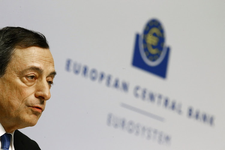 European Central Bank president Mario Draghi addresses a news conference in Frankfurt, Germany.  Picture: REUTERS