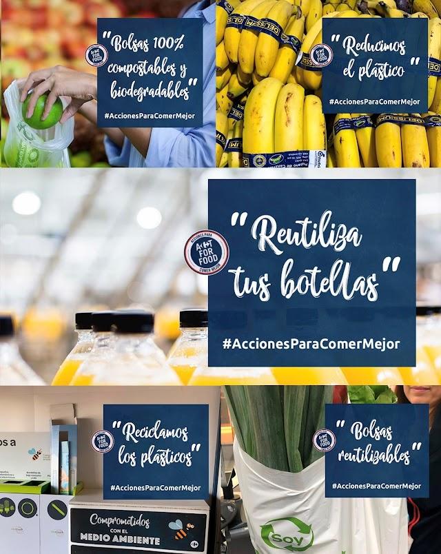 Medidas presentadas por Carrefour para reducir el plástico en sus productos.