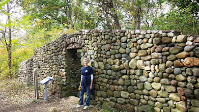 Photo: The remnants of a root cellar from the 19th century when the island was a home for orphaned boys