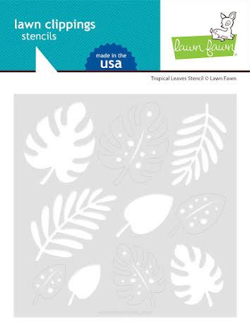 Lawn Fawn Stencils - Tropical Leaves