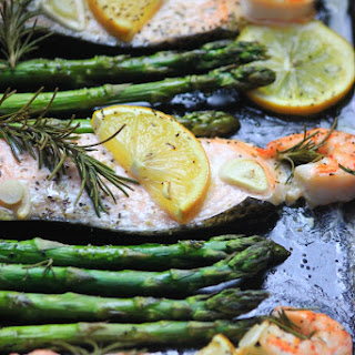 Rosemary Lemon Salmon & Shrimp