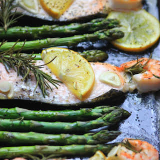 Rosemary Lemon Salmon & Shrimp.