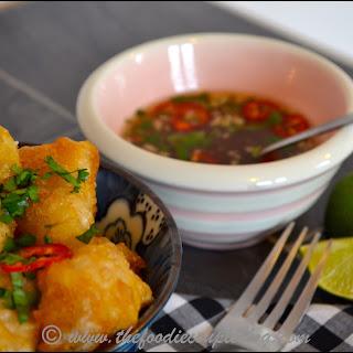 Tempura Monkfish Cheeks with Nuoc Cham