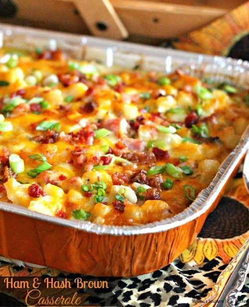 """Ham And Hash Brown Casserole""""This Ham And Hash Brown Casserole is a..."""