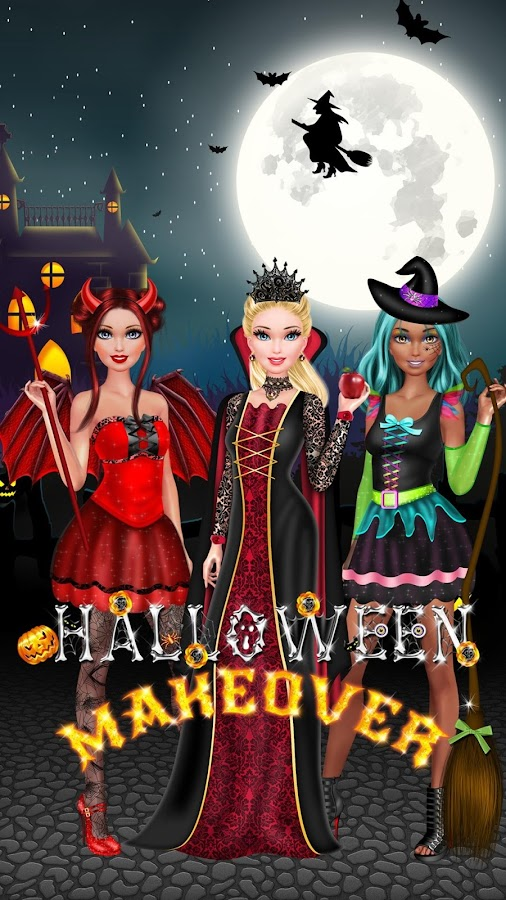halloween salon girls game screenshot - Halloween Fashion Games