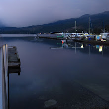 Photo: Last night I went for a walk to where the seaplanes sleep.