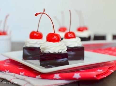 Cherry Dr. Pepper Jello Squares Recipe
