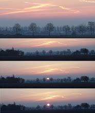 Photo: Koude zonsopgang bij de Borrekeen