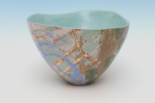 Carolyn Genders Ceramic Vessel entitled 'Eau de nil III'