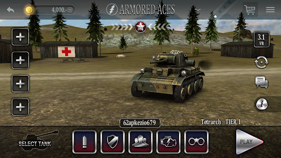 Download Android Game Armored Aces - Tanks in the World War for Samsung