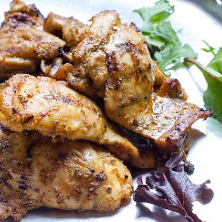 Grilled, Boneless Chicken Thighs.