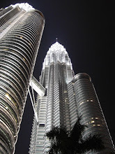 Photo: the towers are lovely by night
