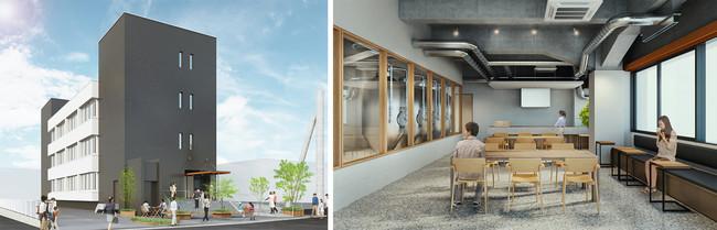 (左より)BOIL外観 および 1Fのイメージ