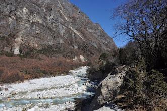 Photo: Remontée de la vallée de la Ghunsa khola