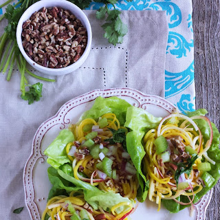 Asian Waldorf Lettuce Wraps with Sweet Chili Mayo