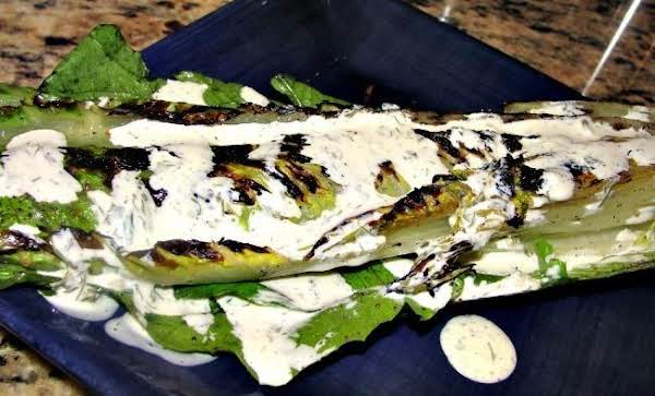 Grilled Romaine With Creamy Herb Dressing Recipe