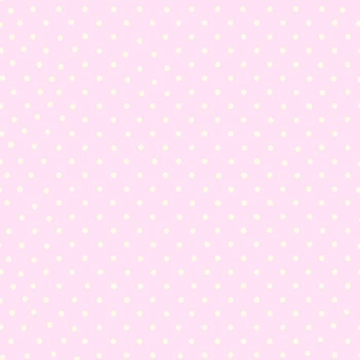 Debona 6321, Tapet med prickar, Rosa/Vit