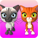 Talking 3 Friends Cats & Bunny mobile app icon