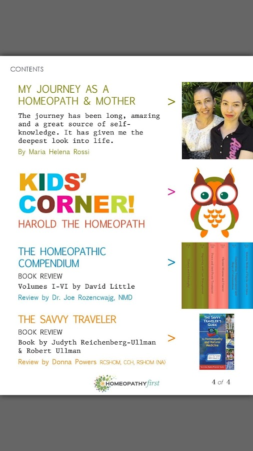 Homeopathy First Magazine- screenshot