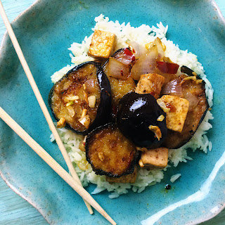 Sweet and Spicy Garlic Eggplant.