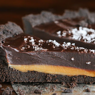 Dark Chocolate Salted Caramel Oreo Pie.