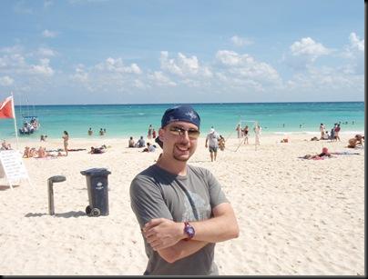 Playa del Carmen em Calica. Consegue ver-se a ilha de Cozumel no horizonte... mas não nesta foto.
