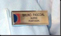 A minha placa de identificação. Gosto tanto de ver ali NURSE - PORTUGAL
