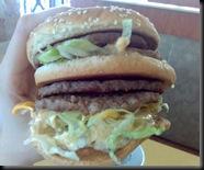 Big Mac Doble! Tem quatro hamburgers!