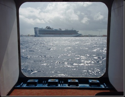 Ancorados ao largo de Cozumel
