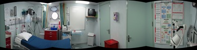 Cardiac Room na enfermaria do Legend. É tudo tão lindo!!!