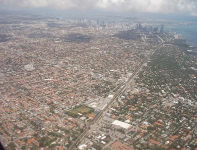 Miami vista do céu