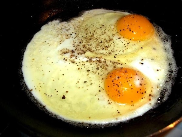 Prepare 2 eggs for each biscuit. Over easy is really the best for this...