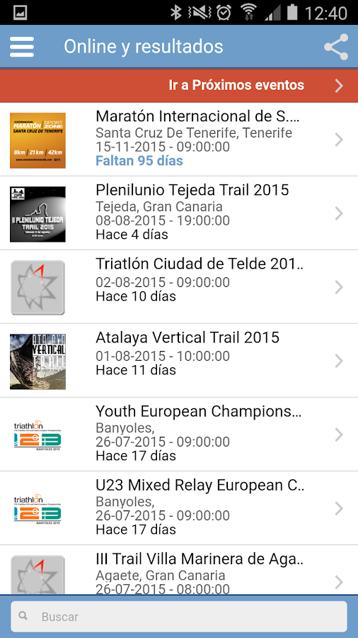 TrackingSport- screenshot