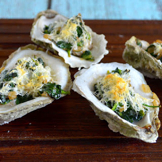 Spinach Parmesan Oysters.