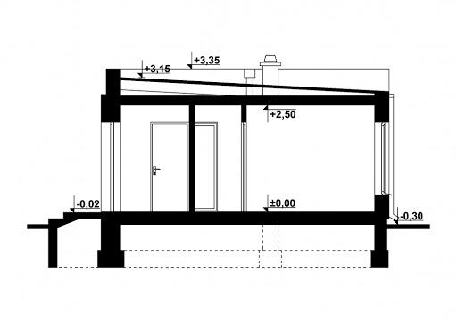 G248 - Budynek rekreacji indywidualnej - Przekrój
