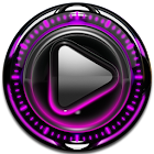 P Glow Poweramp skin theme icon